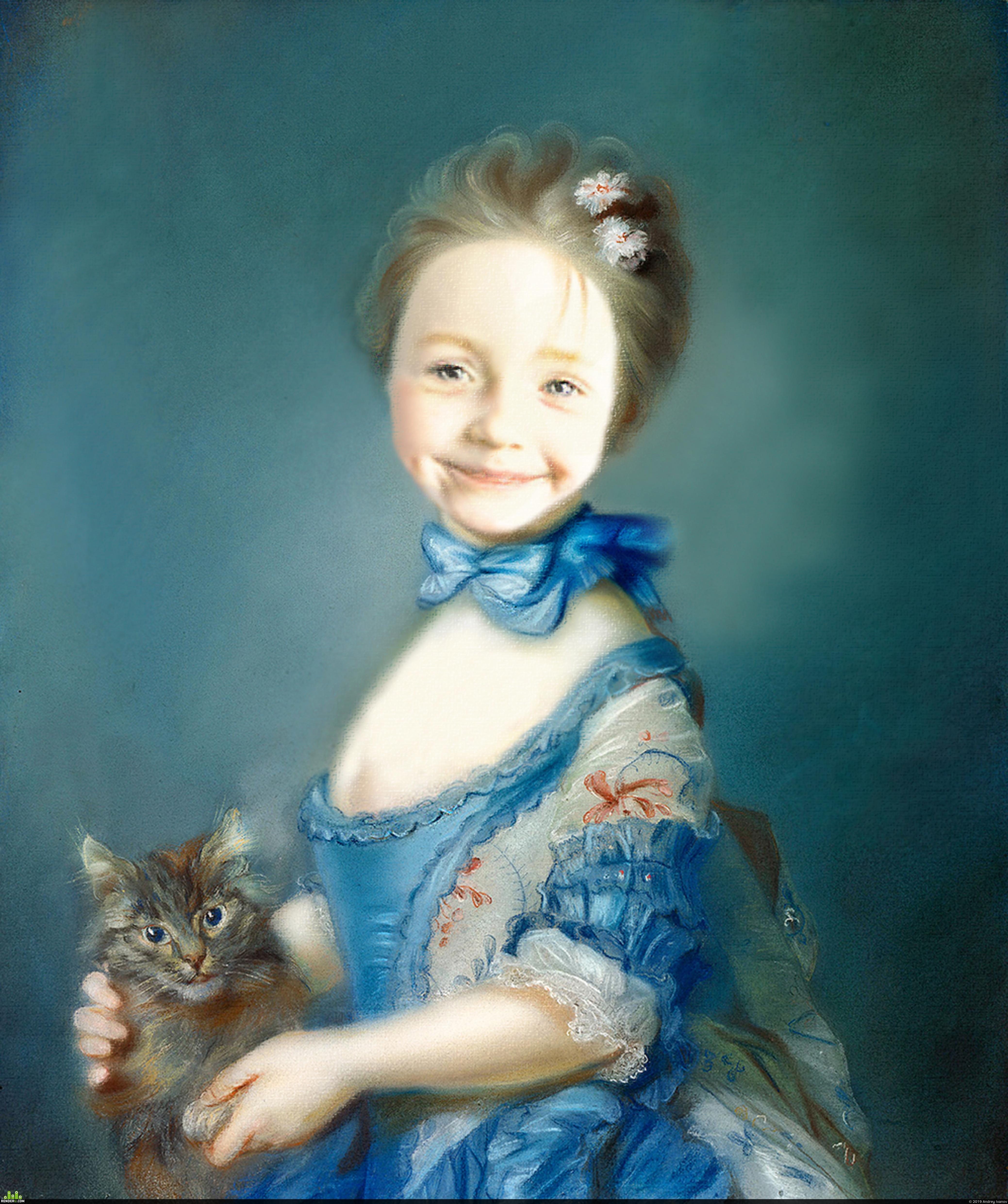 preview Дарина с котиком