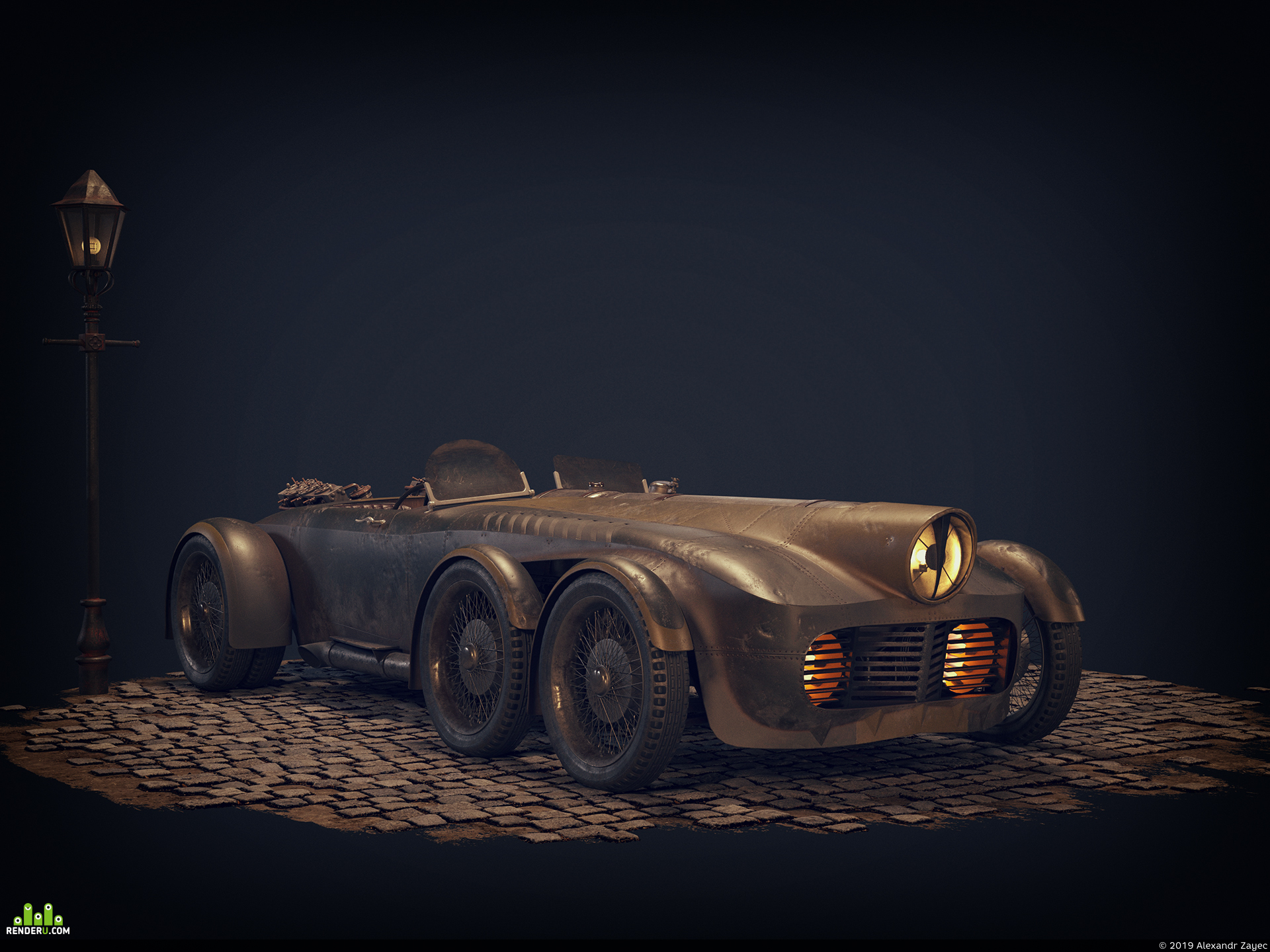 preview Steam racing car