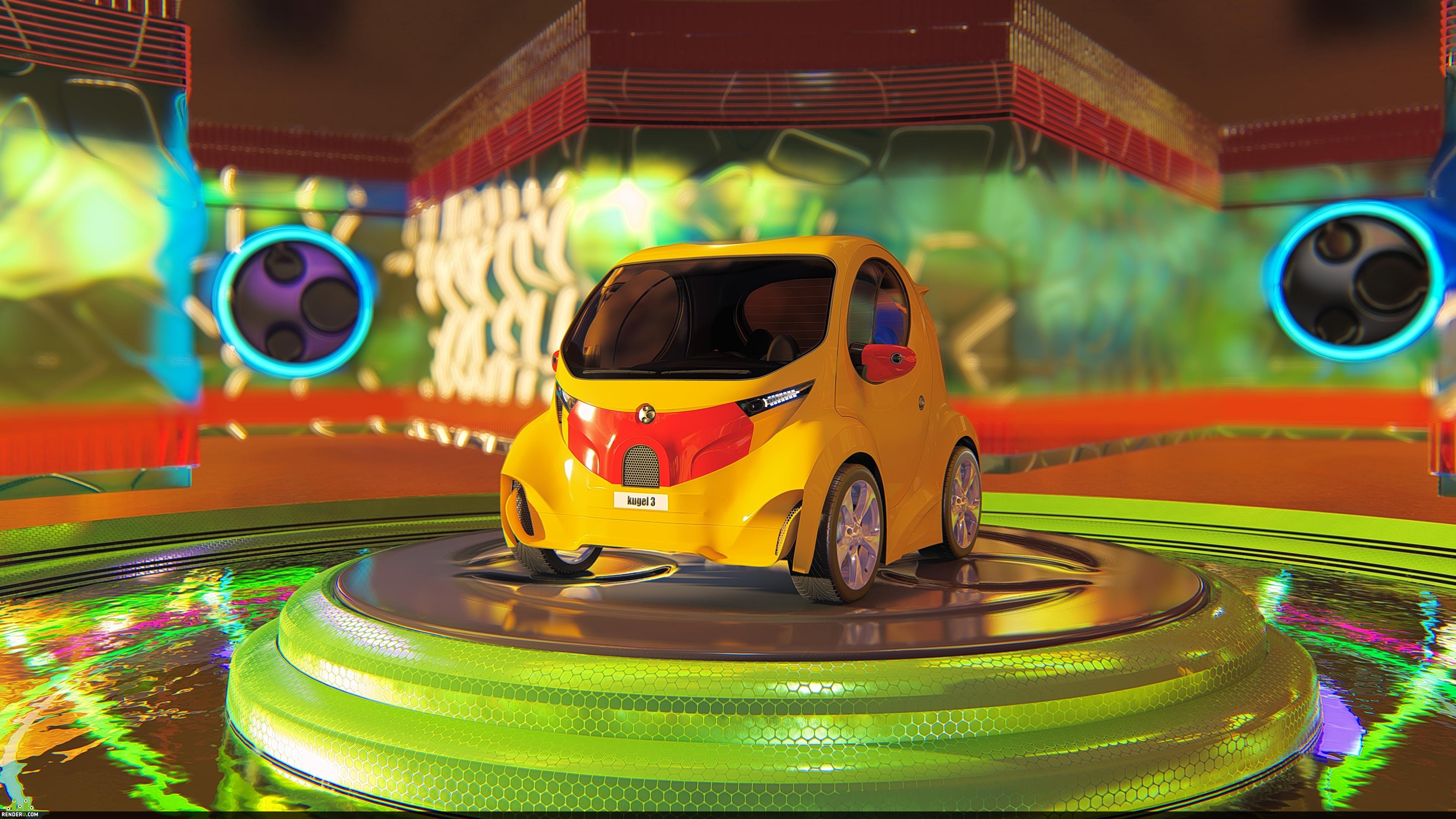 preview Kugel Electric Car Design / Дизайн Электро Автомобиль