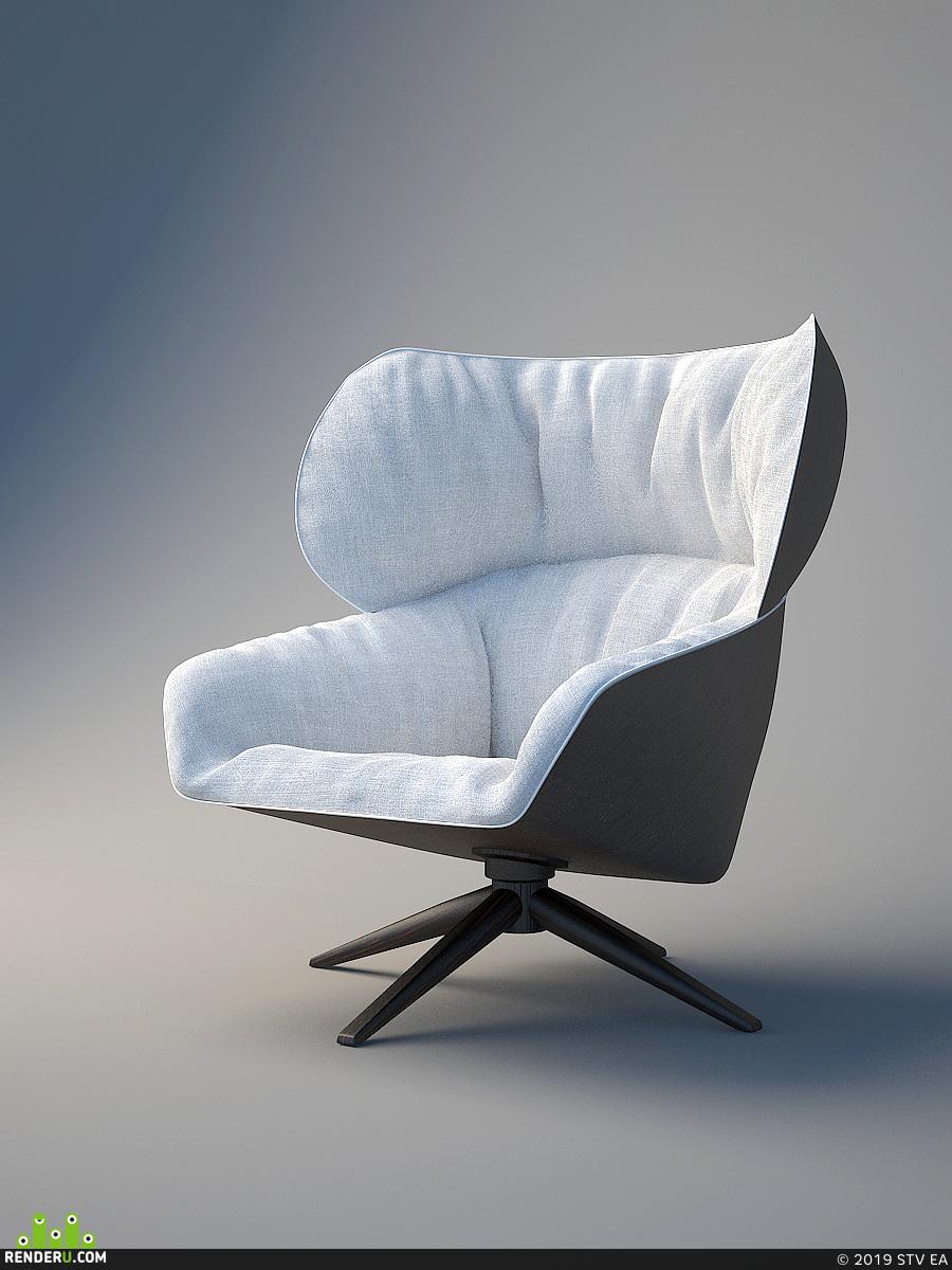 preview Модель кресла B&B Italia, TABANO