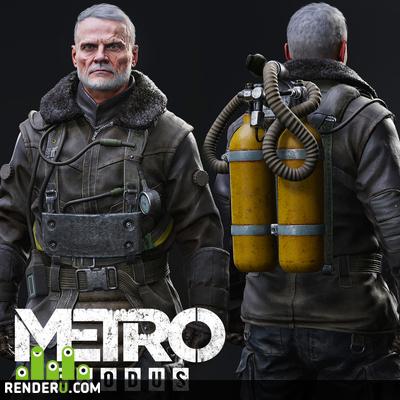 preview Химзащитный (зимний) костюм Миллера - Метро Исход