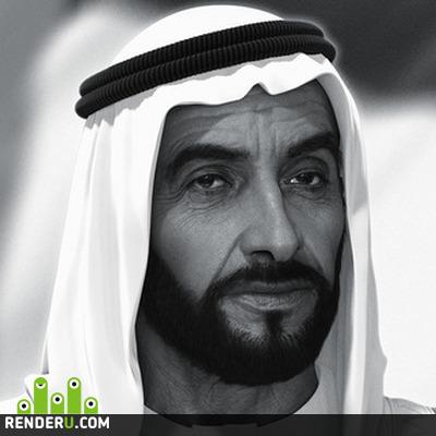 preview Sheikh Zayed - hologram 3D portrait