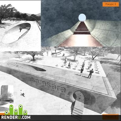 preview Монумент символизирующий духовный путь человека