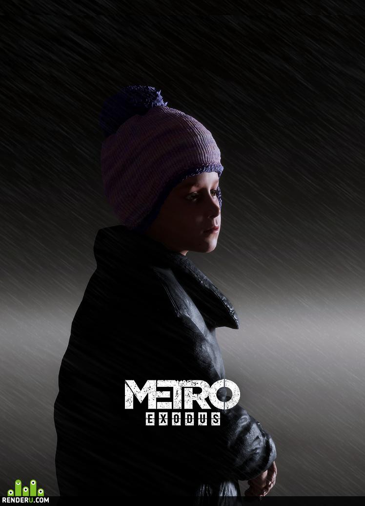preview Настя, игровая модель, Metro Exodus