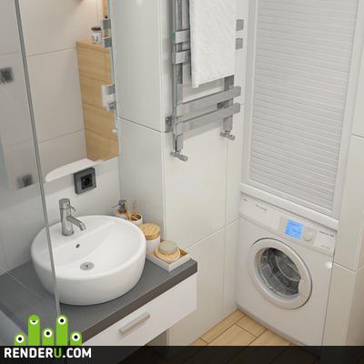preview Ванная комната, 3d визуализация