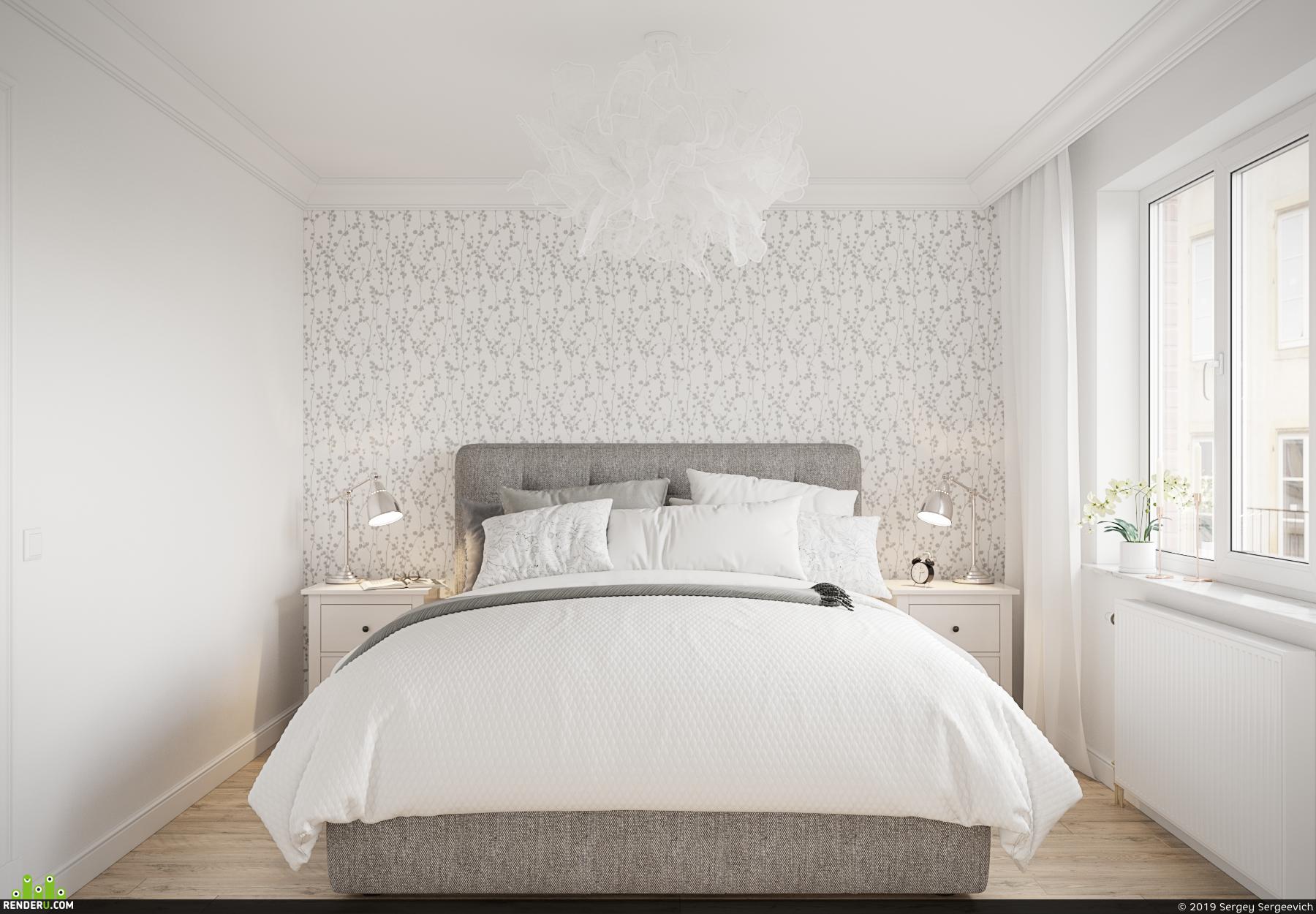 preview Спальня в скандинавском стиле