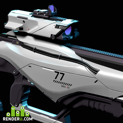 preview sci-fi weapon