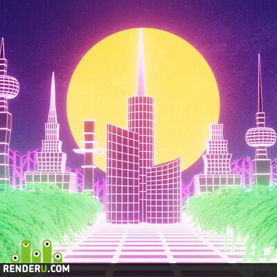 preview Retrowave City