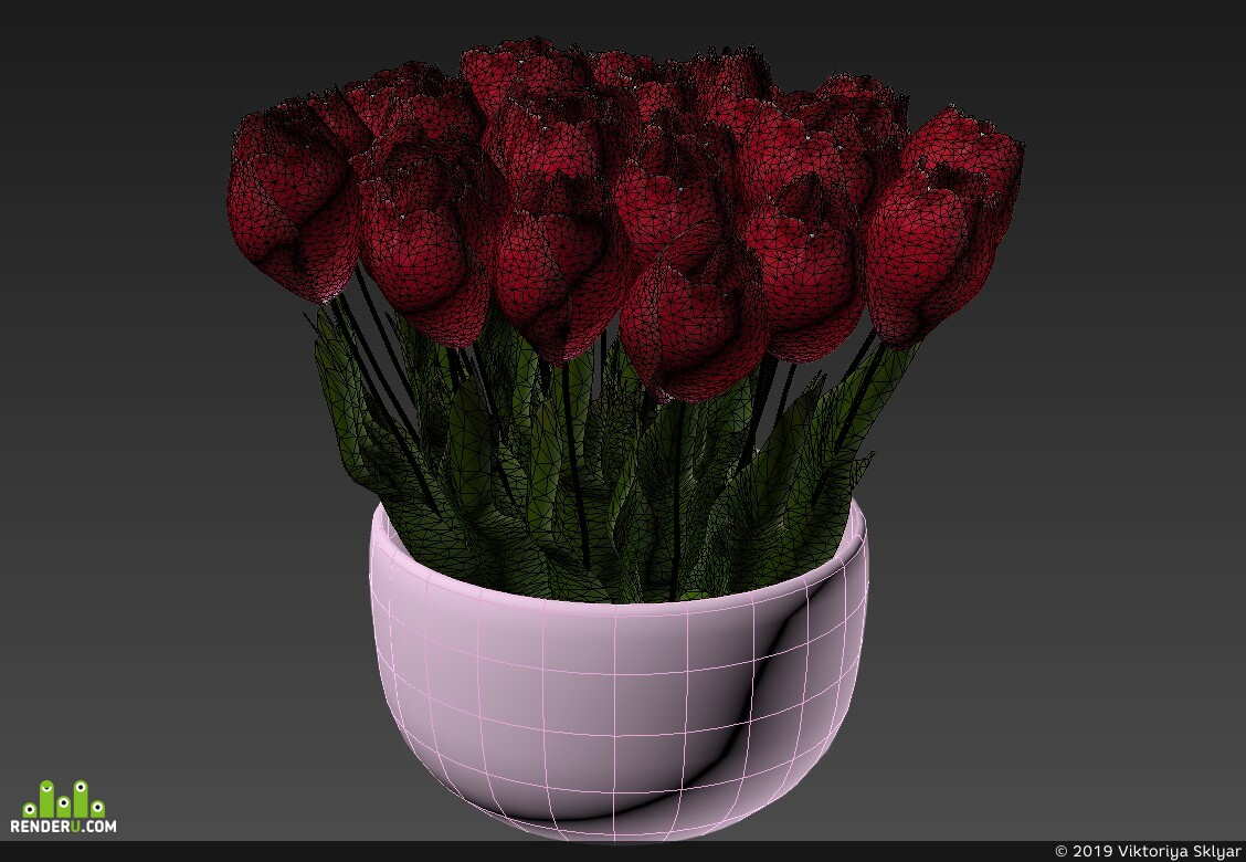 preview Пиала с тюльпанами