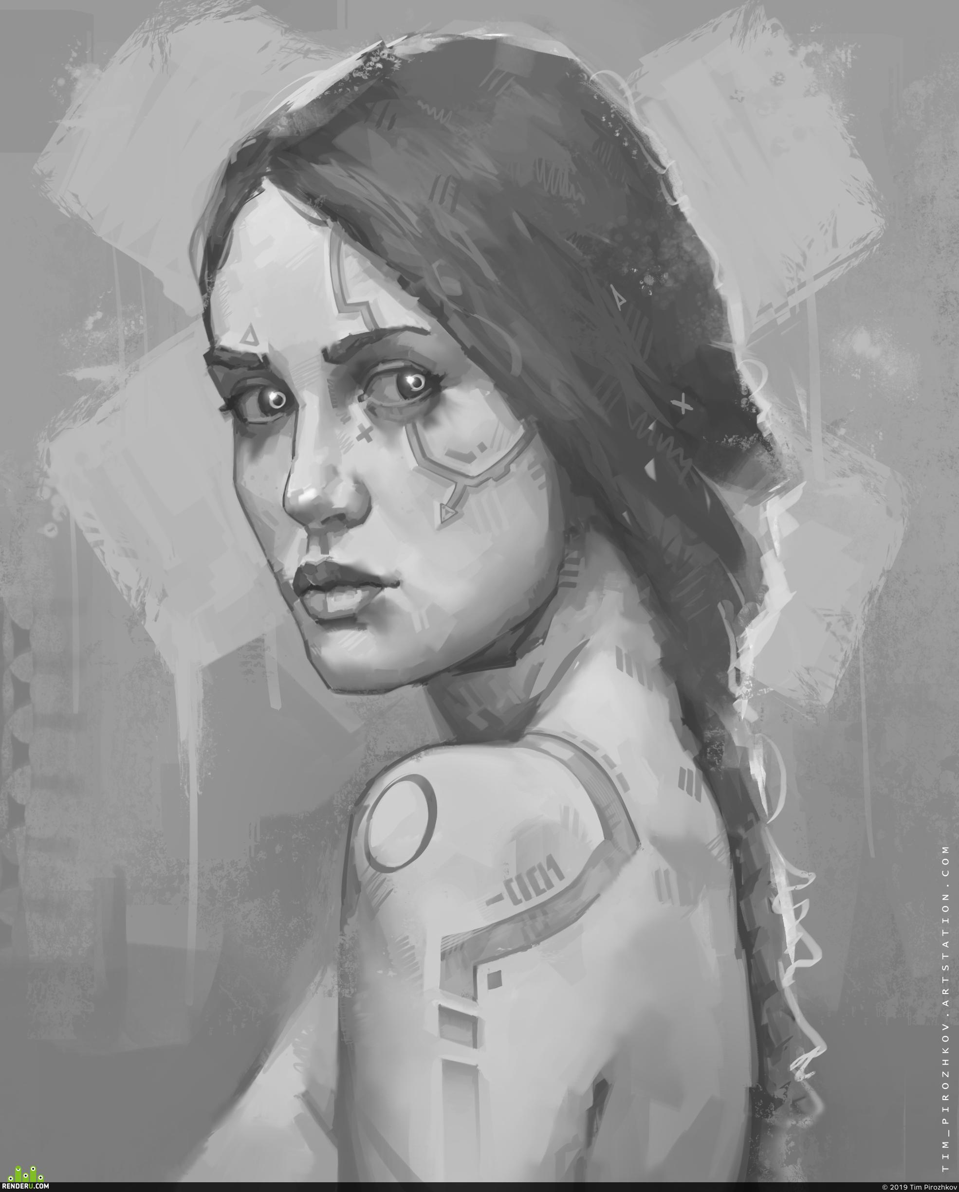 preview Cyberpunk girl