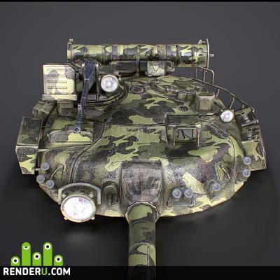 preview Башня и орудие Советского танка T-80Б