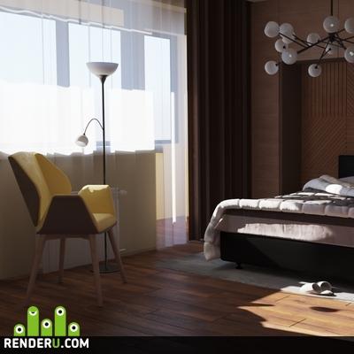 preview Небольшая спальня