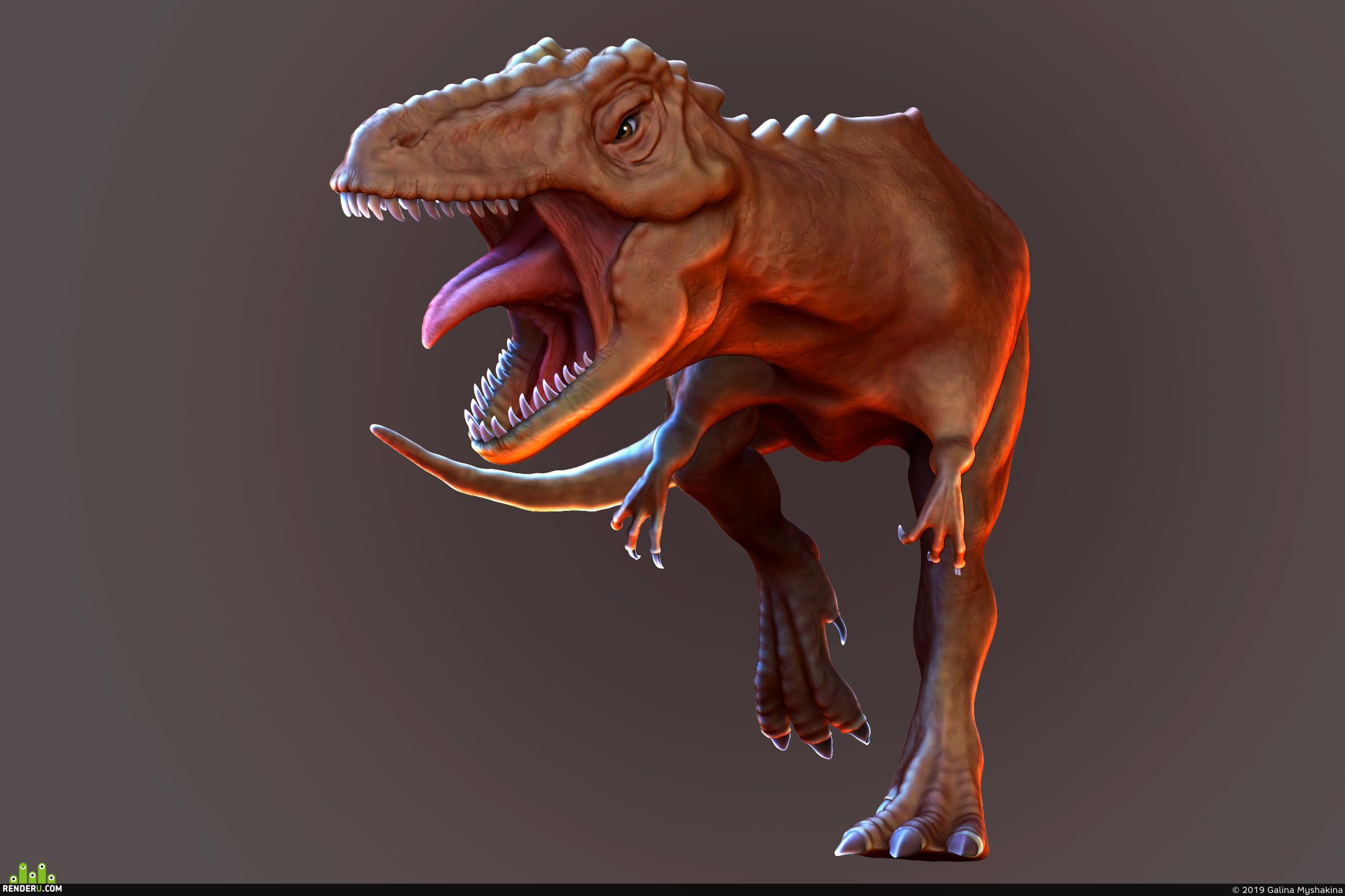 preview 3D тиранозавр