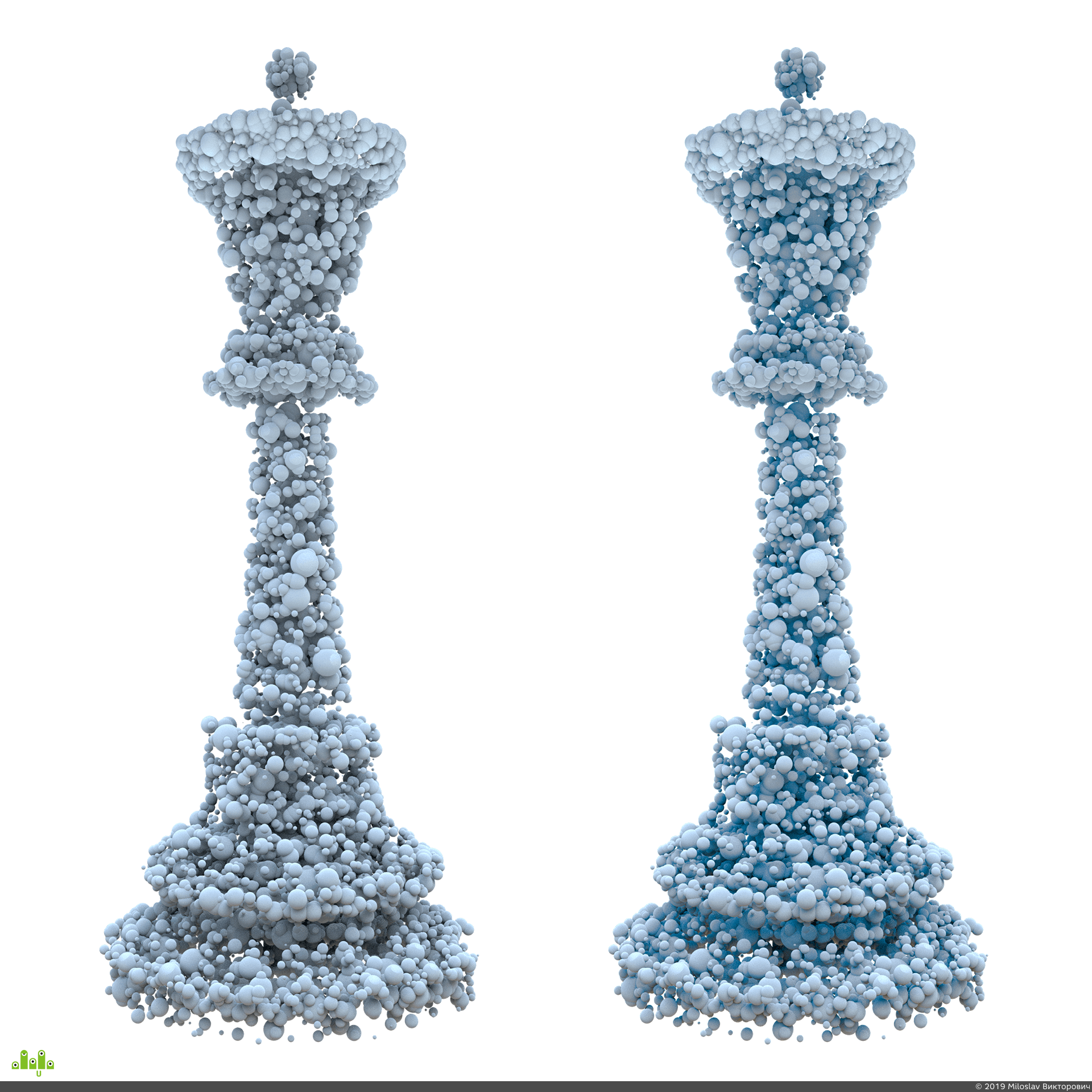preview Шариковая шахматная фигура