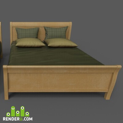 preview Double and single bed