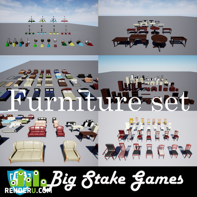 preview UE4 Furniture Collection Pack