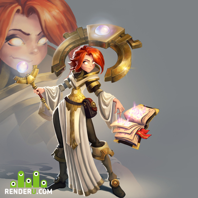 preview concept art Priest character