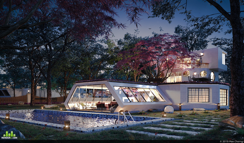 preview Современный загородный дом
