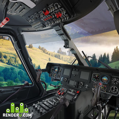 "preview Helicopter ""Ansat"" cockpit"