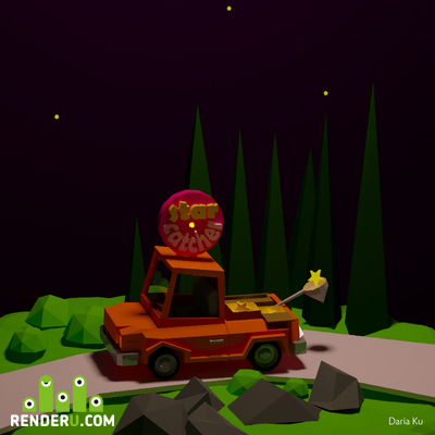 preview Low Poly Star catcher