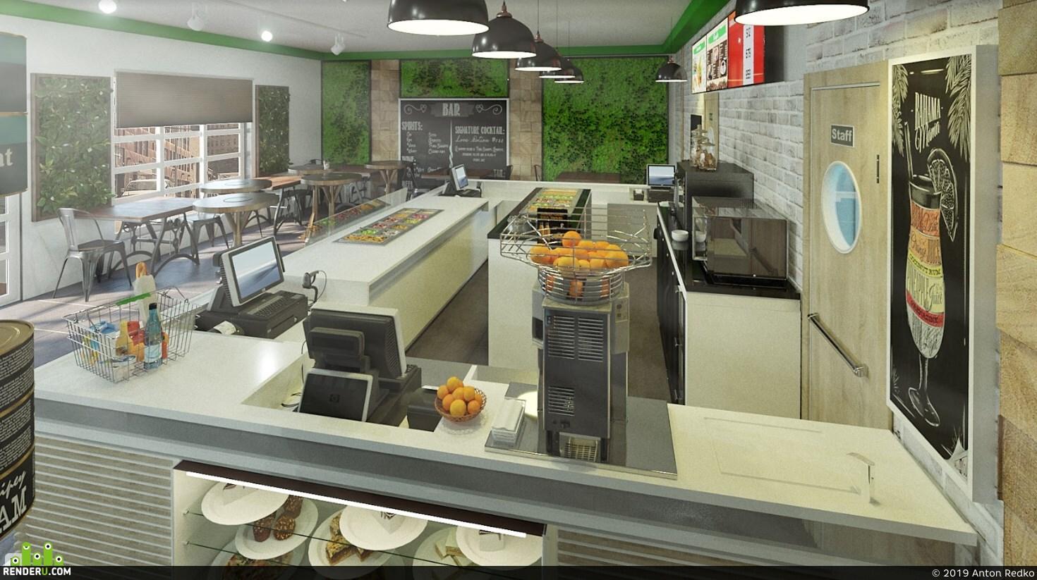 preview Проект интерьера сети кафе на вынос Франшиза по России