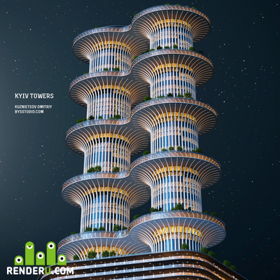 preview Kyiv Towers. Ukraine