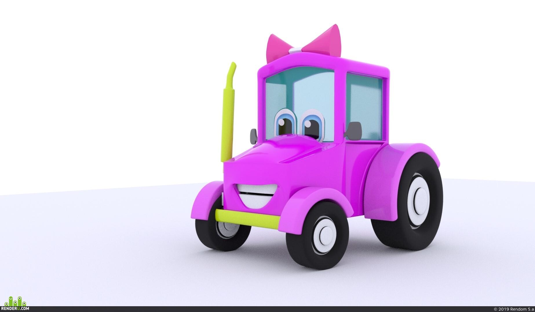 preview Милые трактор