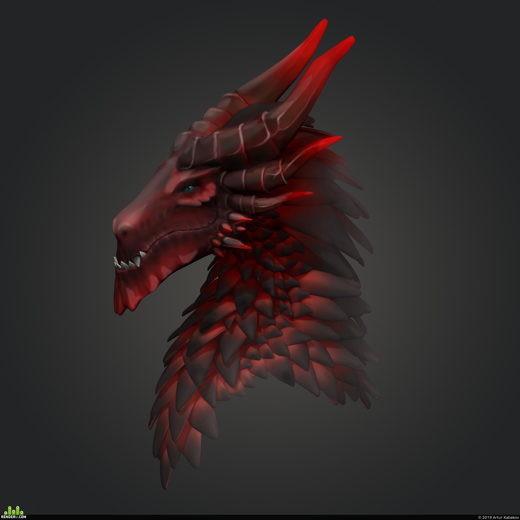 preview Flaming dragon
