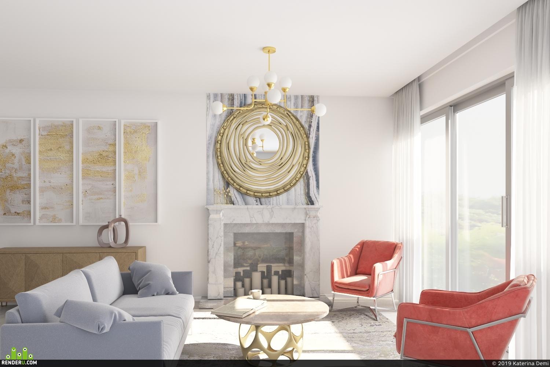 preview Апартаменты с элементами mid century modern