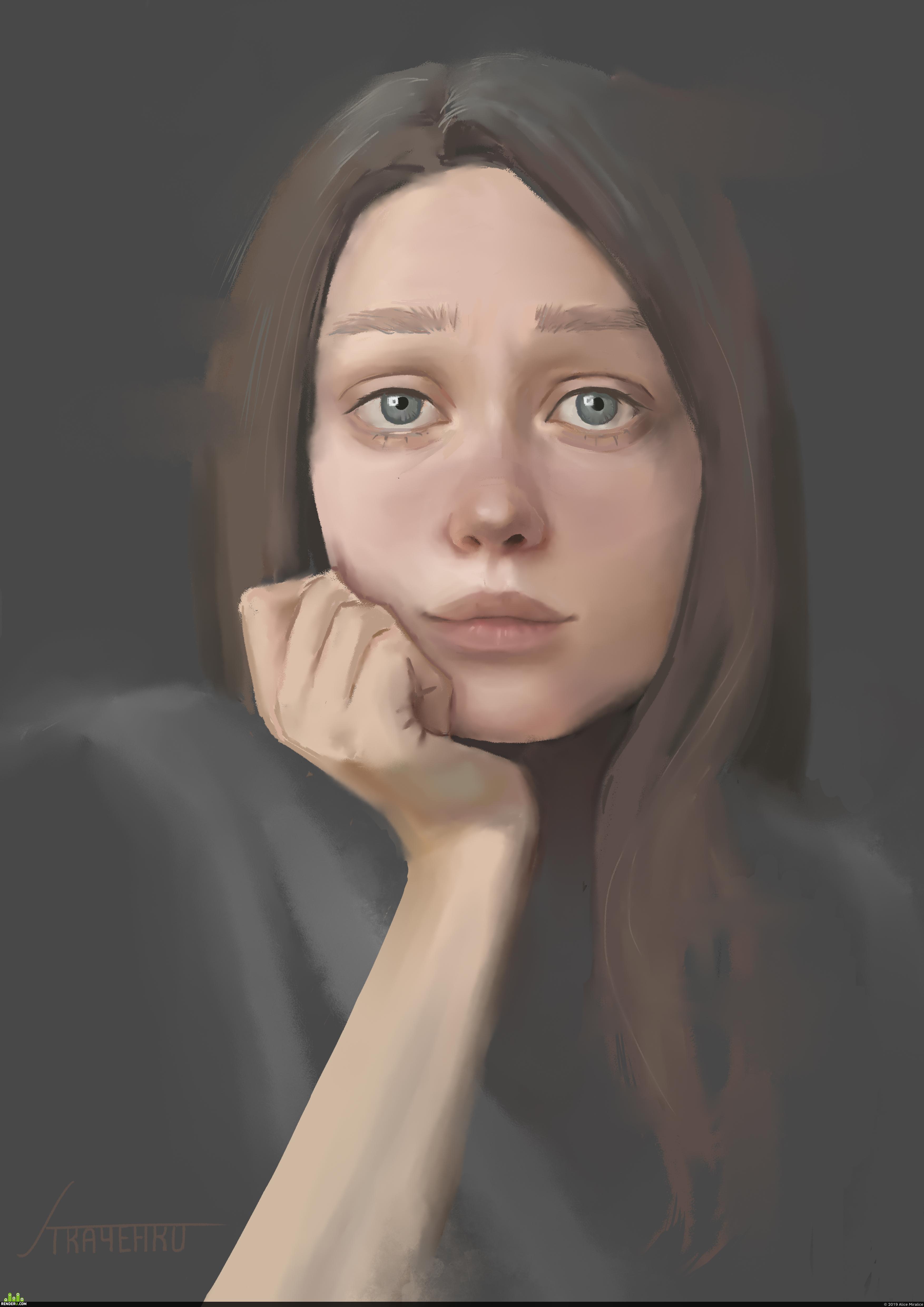 preview Sad self portrait / Грустный автопортрет