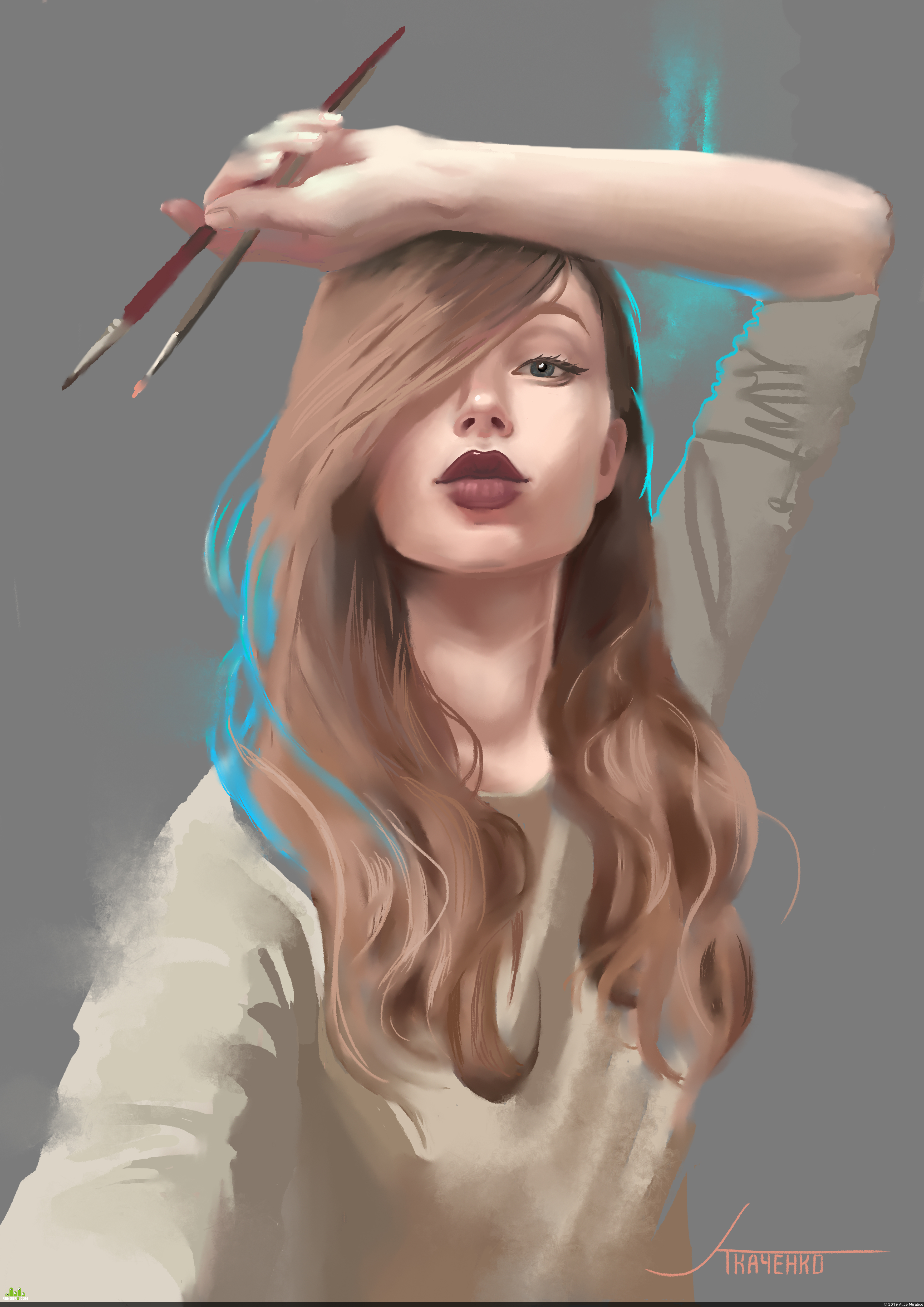 preview Self portrait / Мультяшный автопортрет