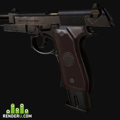 preview Beretta M9 Low Poly