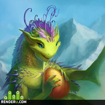 preview Зеленый дракончик