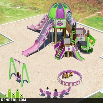 preview Детская площадка (дипломная работа)