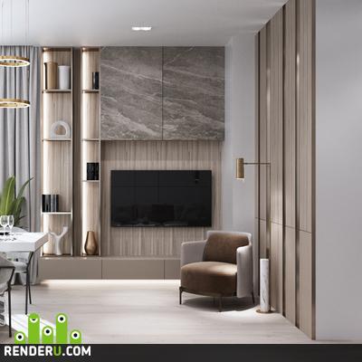preview Визуализация квартиры в городе Ишимбай