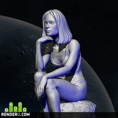 preview Космическая девушка 1