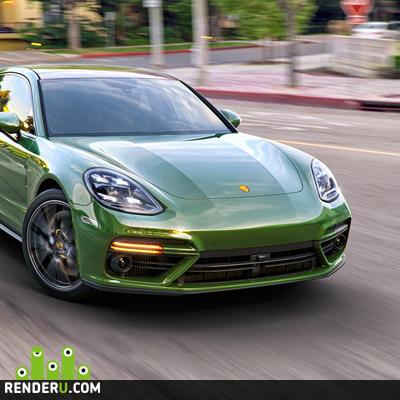 preview Porsche Panamera, визуализация, персональный проект