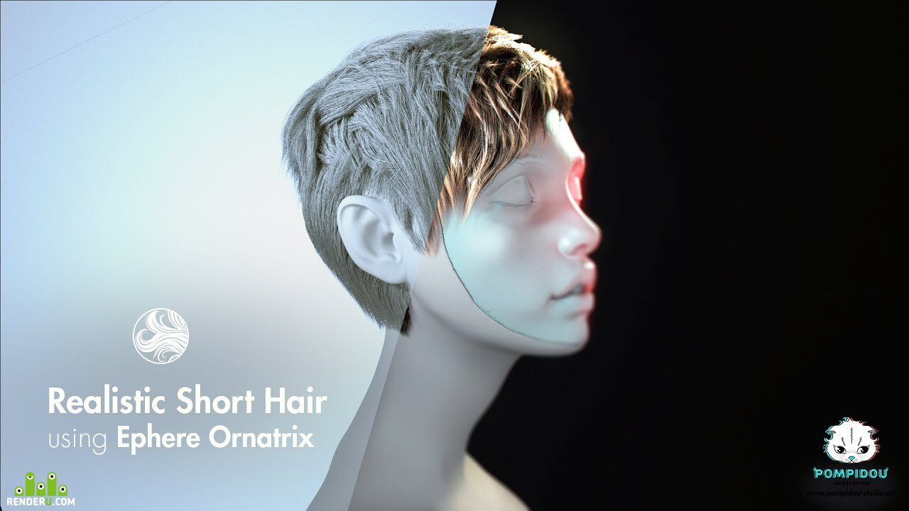 preview Tutorial 3D hair
