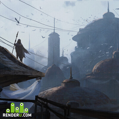 preview Morning in the city. Keyframe design