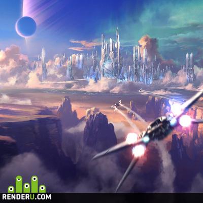 preview sci-fi city