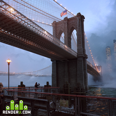 preview Brooklyn Bridge. NYC.