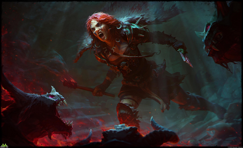 preview Barbarian (fan art for Diablo 4)