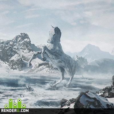 preview Snow landscape