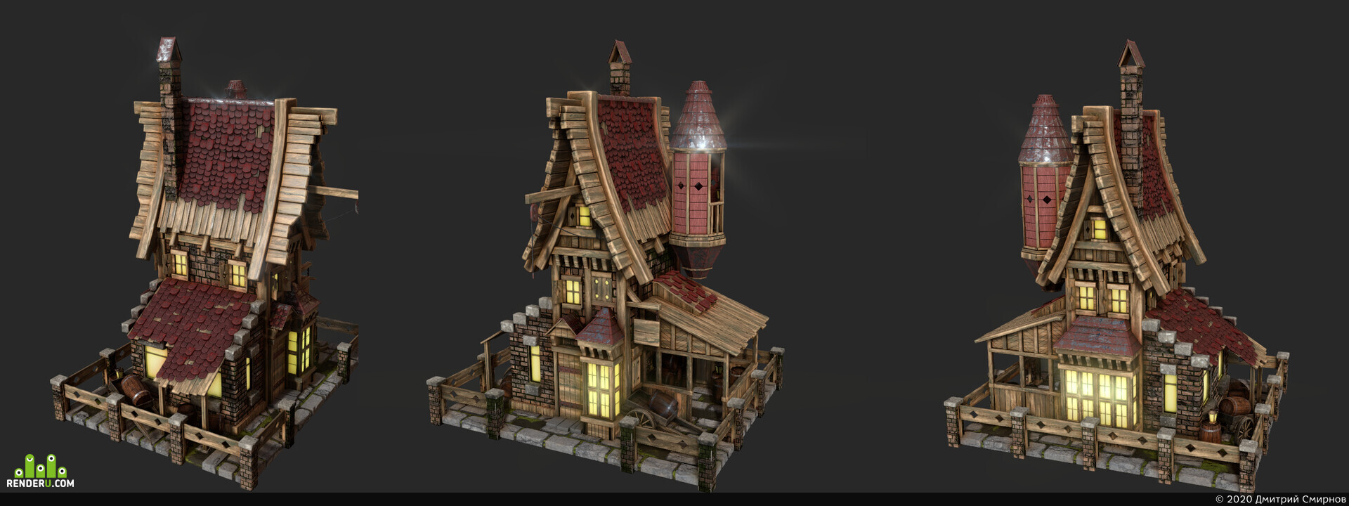 preview wooden house