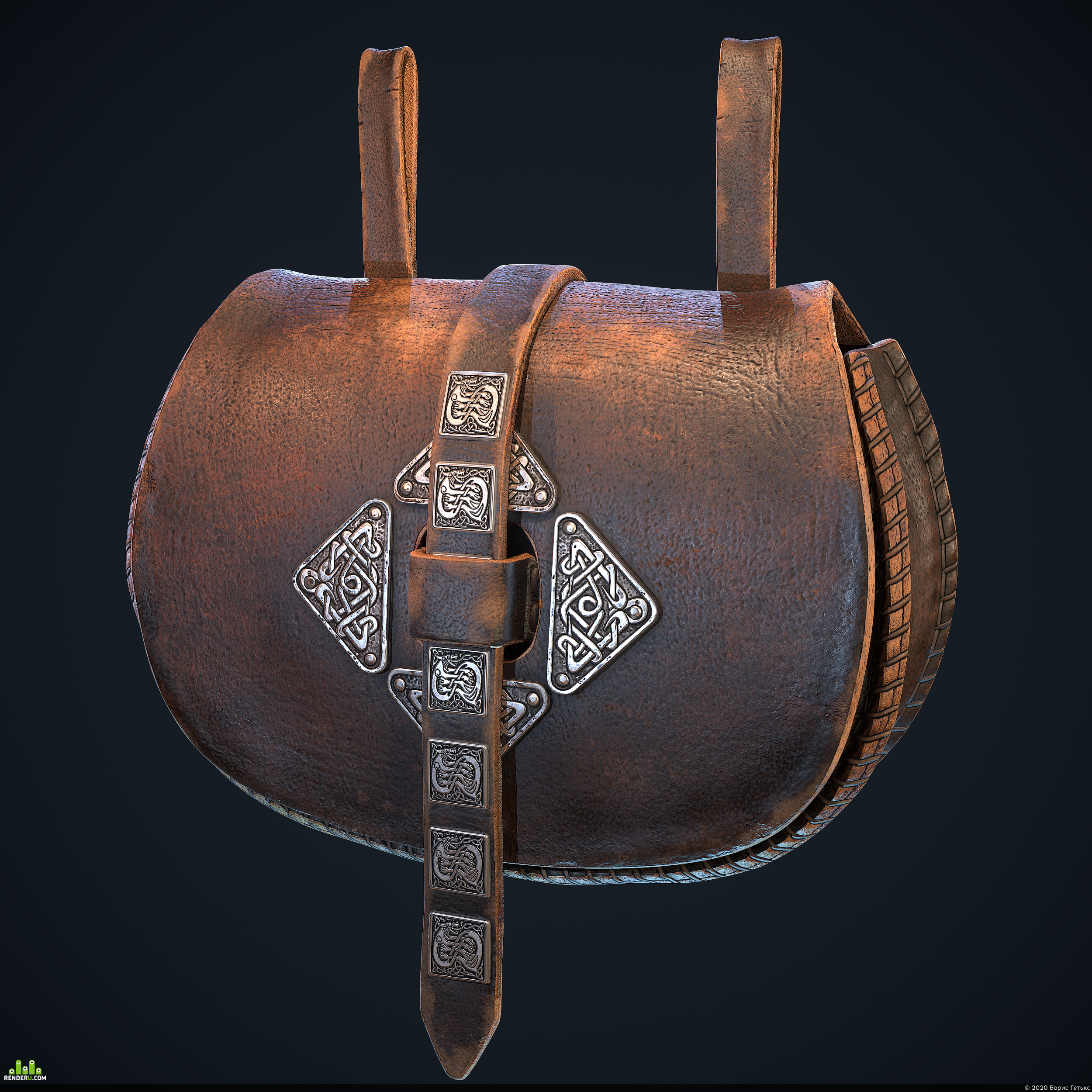 """preview Viking Assets Part06 """"Waist Bag"""" Real-time"""