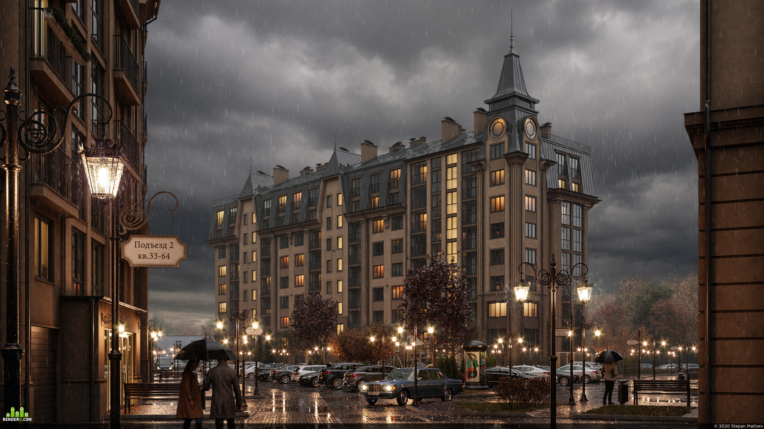 preview Visualization of a residential complex in Zelenogradsk