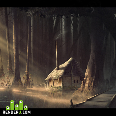 preview Hut in the swamp