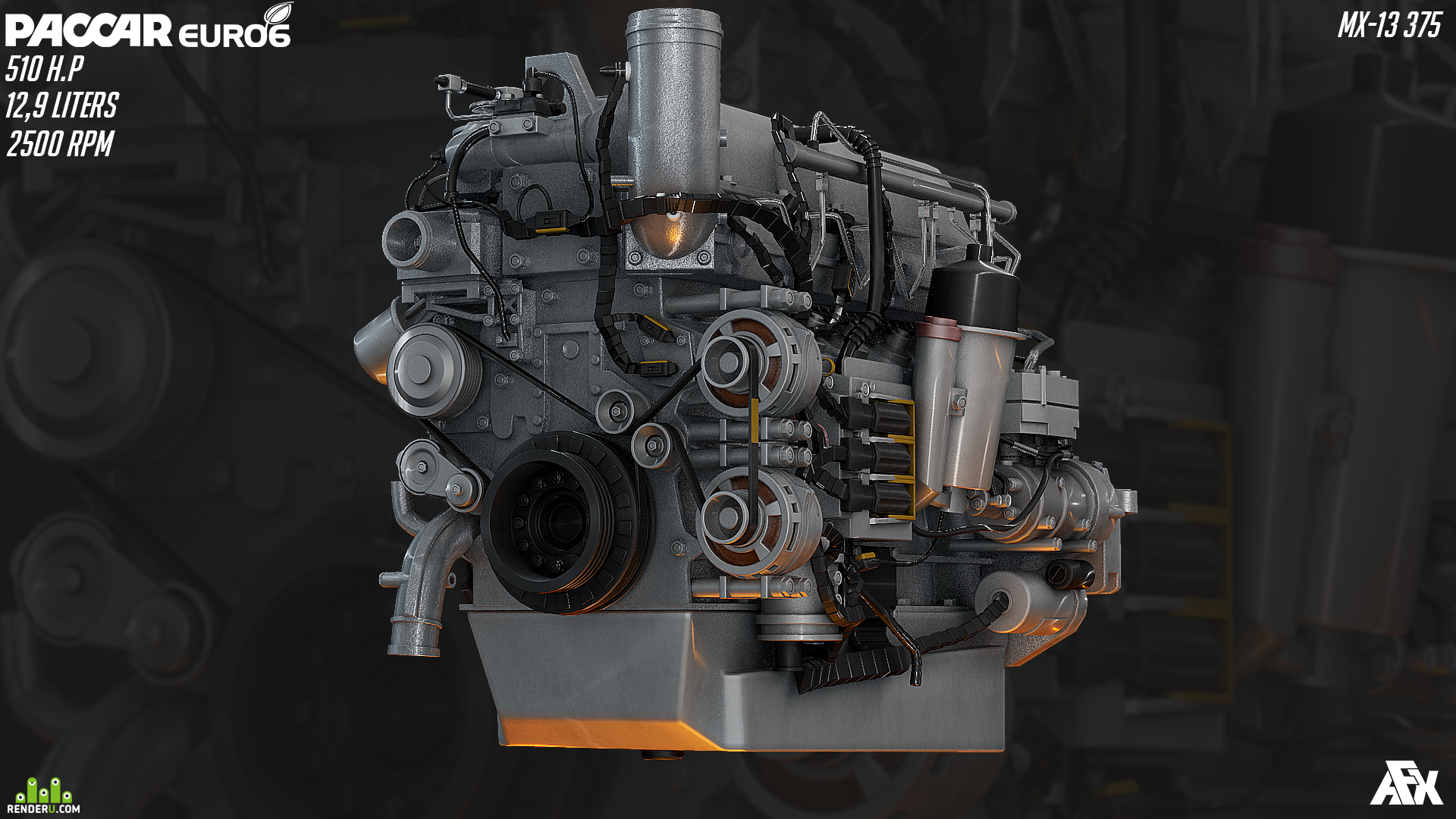 preview Diesel Engine PACCAR MX-13 375