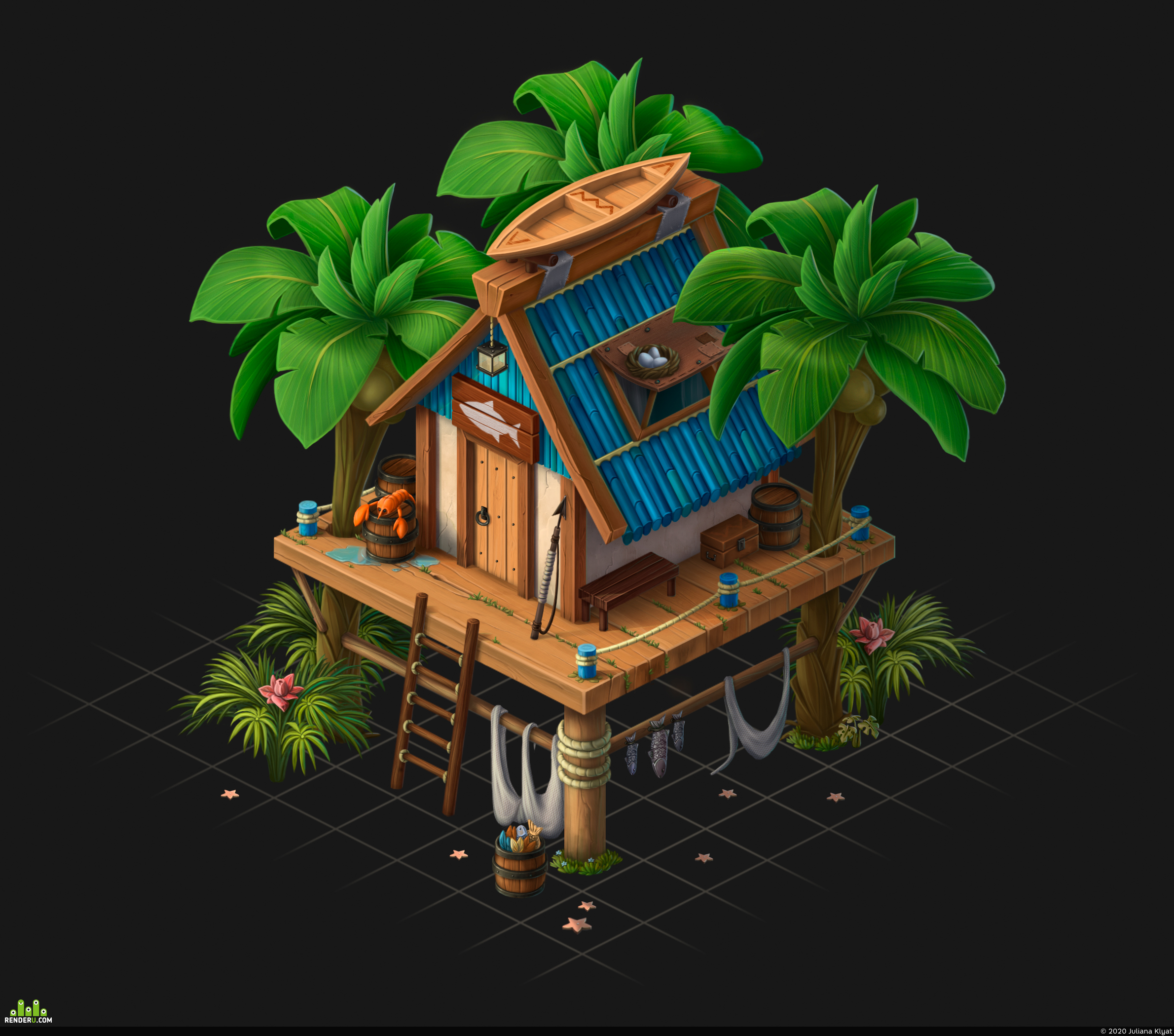 preview Isometric Fisherman's House
