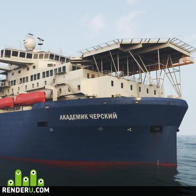 preview Академик Черский 3D модель
